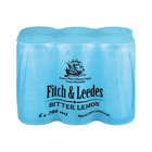 Fitch & Leedes Bitter Lemon Can 200ml x 6