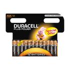 Duracell Alkaline Batteries Plus Power AAA 12s