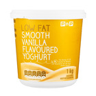 PnP Low Fat Smooth Vanilla Yoghurt 1kg