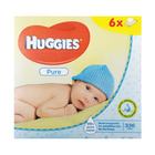 Huggies Pure Baby Wipes 6 x 56s