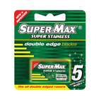 Super-max Stainless Steel Double Edge Blade 5ea