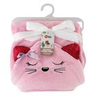 Real Home Kids Wrap Cat Hoodie Pink
