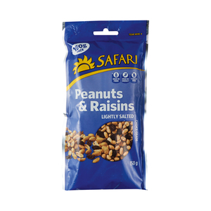 Safari Peanuts & Raisins 150g