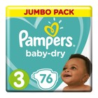 Pampers Baby-Dry Size 3 Jumbo Pack, 76 Nappies