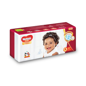 Huggies Gold Unisex Size 4 50s