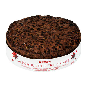 PnP Christmas Alcohol Free Fruit Cake 800g
