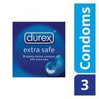 Durex Condoms Extra Safe 3ea