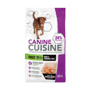CANINE CUISINE Dry Dog Food Adult Chicken and Rice 10Kg