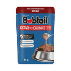 Bobtail Steak Chunks in Gravy Dog Food 85g