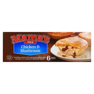 Mama's Chicken & Mushroom Pies 6s