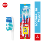 Colgate Extra Clean Medium Toothbrush 3 Pack