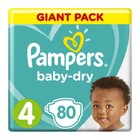 Pampers Baby-Dry Size 4 Giant Pack, 80 Nappies