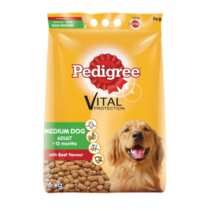 Pedigree Medium Dog Food Beef 6kg