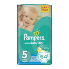 Pampers Active Baby Nappies Junior Giant Pack 64s