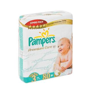Pampers Premium Care Disposable Nappies Jumbo Pack Size 3 80s
