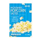 PnP Microwave Popcorn Salted 100g 6s