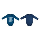 Baby Boys Bodyvest 2 Pack 3-6 Months Teal and Indigol