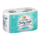 BABY SOFT T/P MINI WHITE 2PLY DUOS 2EA