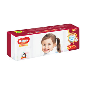 HUGGIES GOLD UNISEX VALUE SIZE 5 42EA