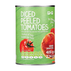 PnP Chopped Peeled Tomatoes 400g