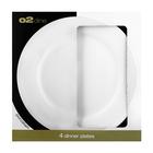 O2 Dine Dinner Plate White Embossed Swirl 26cm
