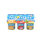 Danone Nutriday Low Fat Strawberry, Fruit Cocktail & Apricot Fruit Yoghurt 6