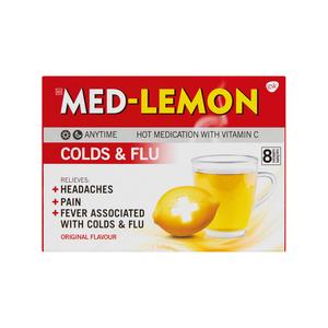 Med-lemon Cold And Flu Powders  Hot Medication 8g
