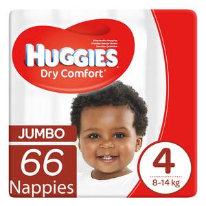 Huggies Dry Comfort Nappies Size 4 66ea