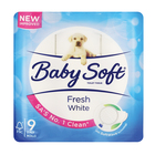 Baby Soft Toilet Paper 2 Ply White 9s