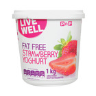 PnP Live Well Fat Free Strawberry Yoghurt 1kg