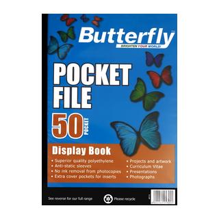Butterfly Pocket File A4 50  Page