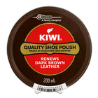 Kiwi Paste Shoe Polish Dark Brown 200ml