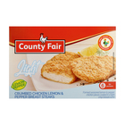 County Fair Lemon Pepper Breast Fillet 400g