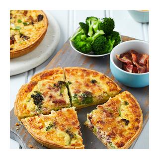 PnP Roast Vegetable Mushroom Corn & Feta Quiche 450g