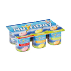 Danone Nutriday Smooth Strawberry, Mixed Fruit & Banana Yoghurt 6x100g