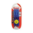 Pentel Retractble Ballpoint Pen Blue 3s