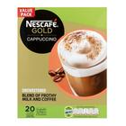 Nescafe Gold Unsweetened Cappuccino Sachets 20s