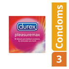 Durex Condoms Pleasuremax X 3