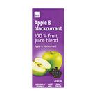 PnP 100% Apple & Blackcurrent Juice 200ml x 6