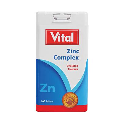 Vital Zinc Tablets 100ea Each Unit Of Measure Pick N Pay