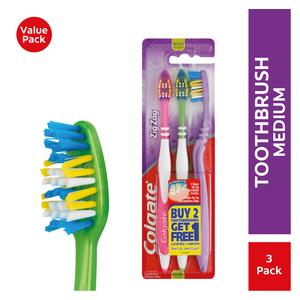 Colgate Zig Zag Medium Toothbrush 3 Pack
