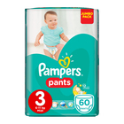 Pampers Baby-Dry Size 3 Jumbo Pack, 60 Nappy Pants