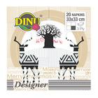 Dinu Napkins Reindeer 3 Ply 20ea