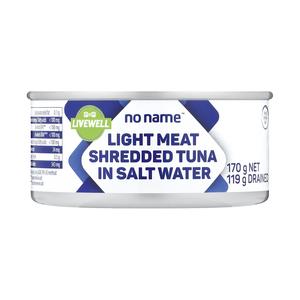 PnP No Name Tuna Shredded In Slt Water 170g