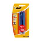 BIC Clic Medium 3 + 2 Free Blue