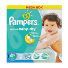 Pampers Active Baby Nappies Mega Pack Maxi Plus 120s
