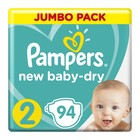 Pampers New Baby Nappies S2 Mini 3-6kg Jumbo 94s