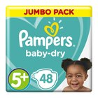 Pampers Baby-Dry Size 5+ Jumbo Pack, 48 Nappies