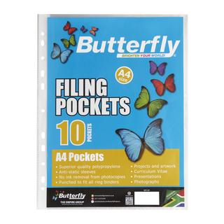 Butterfly Filing Pockets A4 10ea