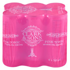 CLARK & SONS PINK TONIC MIXER 250ML x 6